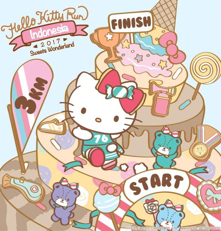 Lomba Lari Hello Kitty Run Usung Tema Sweet Wonderland