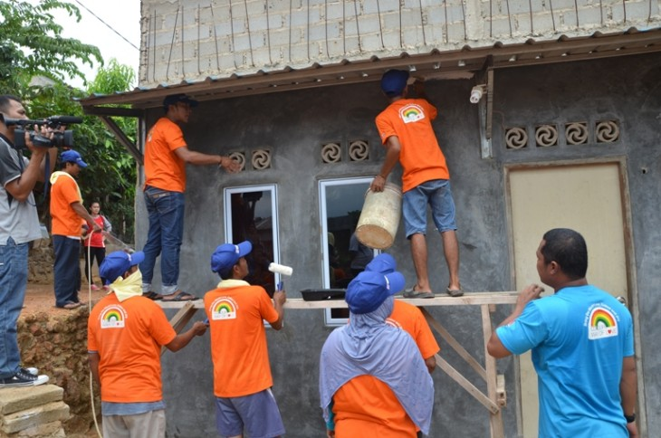 Nippon Paint Gandeng Habitat for Humanity Indonesia Gelar CSR  – Colourful Dreams