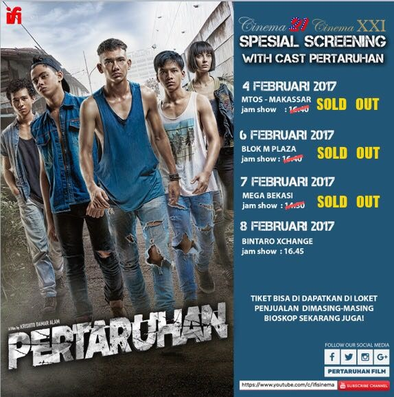 Penonton Antusias Saksikan Special Screening with Cast Film 'Pertaruhan'