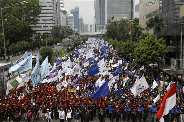 Ilustrasi Demo Buruh