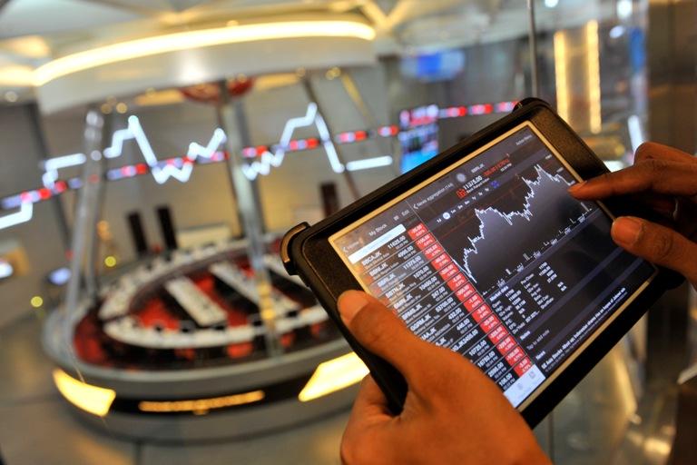 ilustrasi – perdagangan saham di bursa