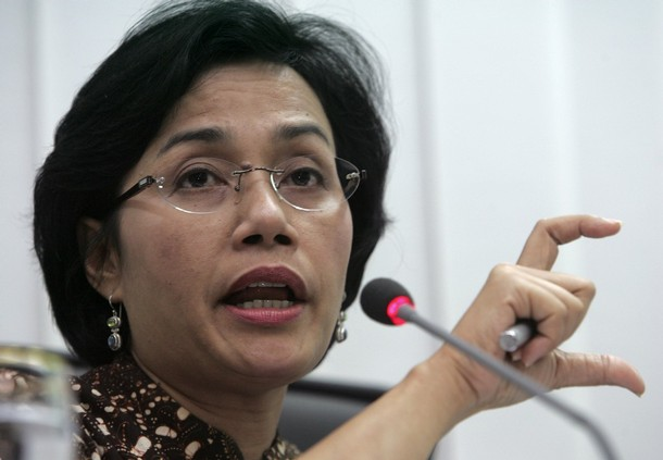Indonesian Finance Minister Sri Mulyani Indrawati speaks during a news conference in Jakarta